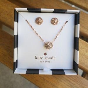 Kate Spade Rose Gold Night Lounge jewelry set